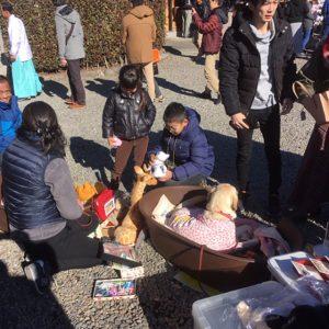 東日本盲導犬協会 今泉八坂神社募金活動